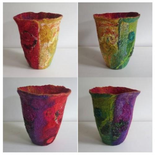 4 kleurvlakken vaas